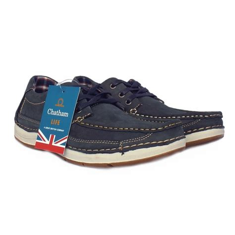Boat Shoes Navy by Chatham Marine Rubble Navy S Lace Up Boat Shoe