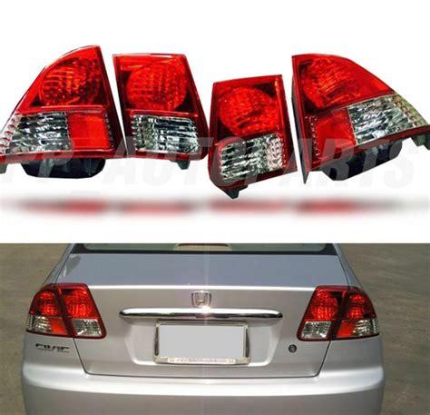 Rear Red Tail Light Lamp For Honda Civic Dimension Sedan