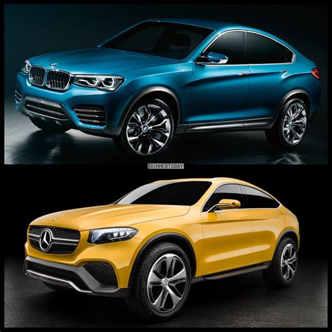 Mercedes Glc Coupe Concept Vs Bmw X4  Photo Comparison