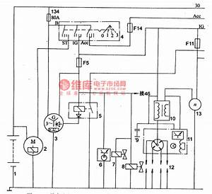 The Power Supply  Starting And Ignition Circuit Of Mazda