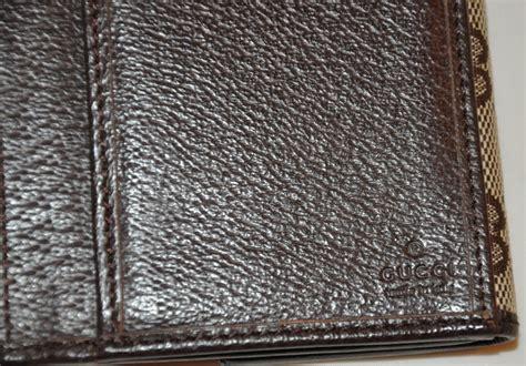 gucci gg canvas  pigskin leather billfold wallet  stdibs