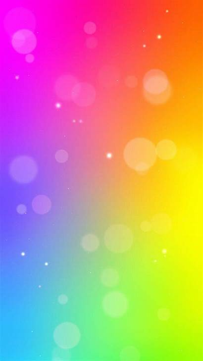 Mobile Crazy Neon Rainbow Colorful Bright Screen