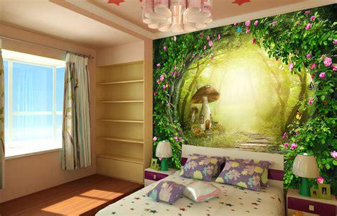 tapisserie pour cuisine une chambre pour enfant à thème forêt deco in