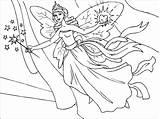 Fairy Coloring Printable Fairies Pdf sketch template