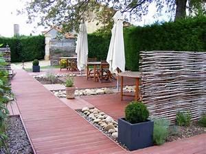Bois Pour Terrasse Extérieure : am nagement d une terrasse jardin horenove ~ Dailycaller-alerts.com Idées de Décoration