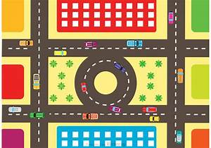 Aerial View Of Highway Traffic Vector - Download Free ...