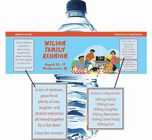 a family reunion water bottle label With class reunion water bottle labels