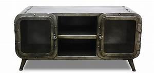 Meuble Industriel Vintage : meuble tv style industriel antique vintage grange co fer pas cher ~ Nature-et-papiers.com Idées de Décoration
