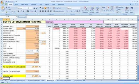personal finance excel personal financial planning