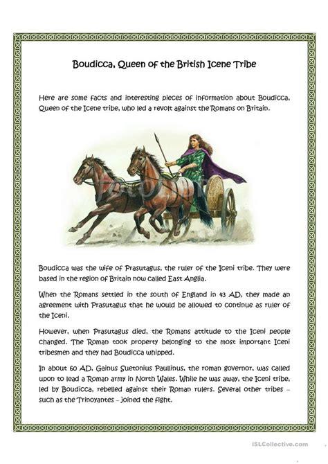 Boudicca Worksheet  Free Esl Printable Worksheets Made By Teachers