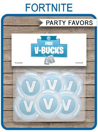 fortnite  bucks printable party favors  bucks stickers