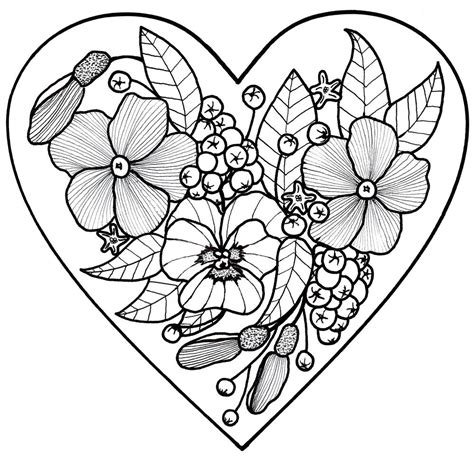 All My Love Adult Coloring Page FaveCrafts com