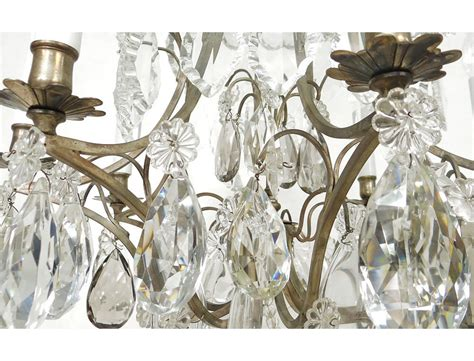 lustre cristal taill 233 8 feux fer forg 233 pilles 233 toiles