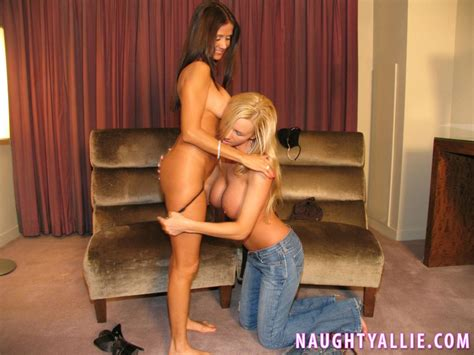 Naughty Allie gets together with her friend Rio for some hot lesbian fun   Coed Cherry