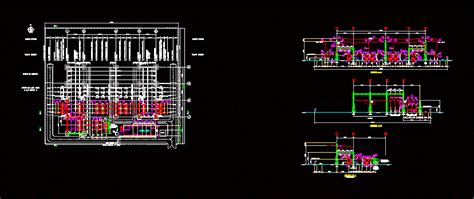 kv substation electric kv  autocad cad