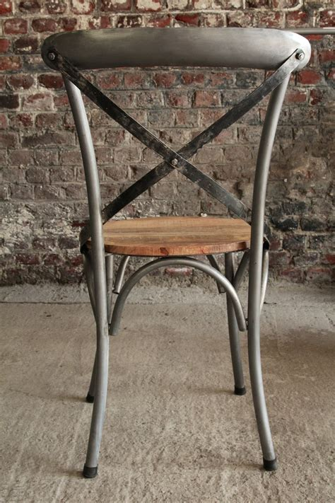 chaise bois metal chaise metal bois