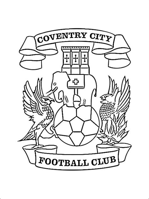 logo coventry city football club da colorare disegni da