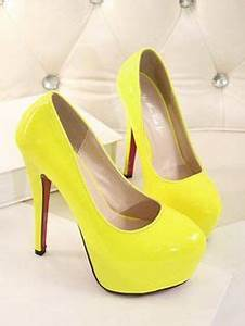1000 ideas about Yellow High Heels on Pinterest