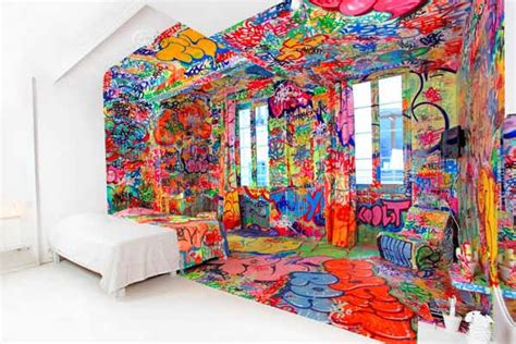 6 Unique Rooms In Hotel Au Vieux Panier by Colorful Bedroom Decorating Ideas By Graffiti Artists