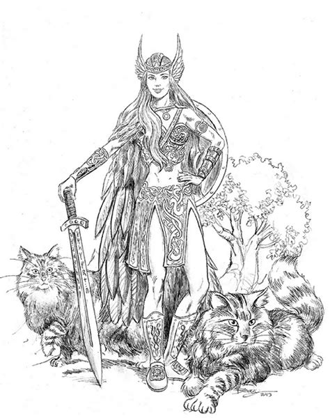 mythology adult coloring - Yahoo Image Search Results | adult coloring | Norse goddess, Norse