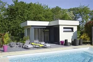 Pool House Toit Plat : pool house en bois dans le haut rhin 68 alsace ~ Melissatoandfro.com Idées de Décoration