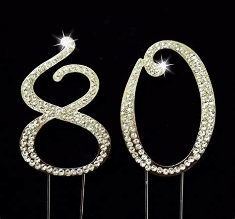 large rhinestone covered 80 80th 80th birthday cake toppers shop 80th birthday cake
