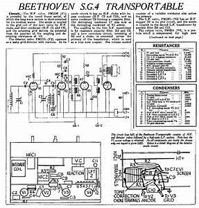 Beethoven Super Minor Portable Battery Radio 1943 Sm Service Manual Download  Schematics  Eeprom