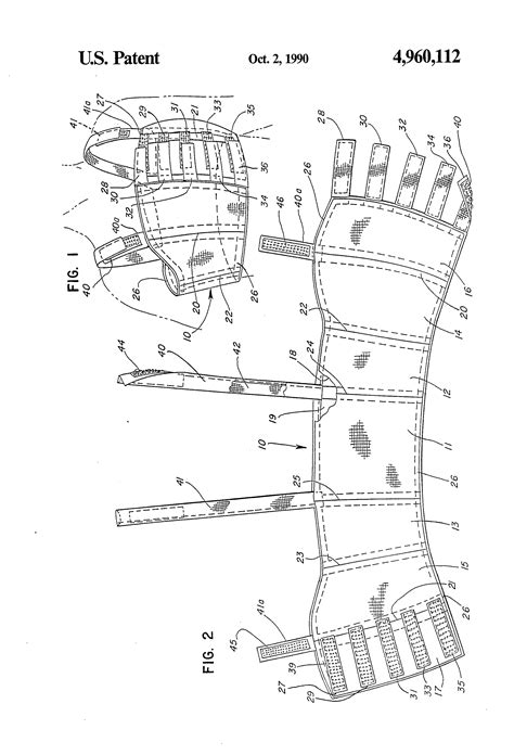 Patent Us4960112 Breast Binder For Suppression Of