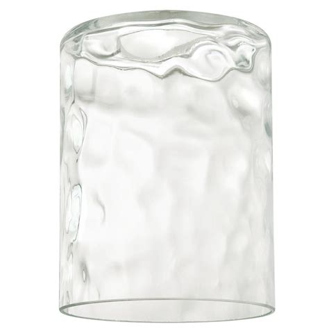 cylinder glass shade replacement westinghouse 5 1 4 in clear hammered cylinder shade with 6412