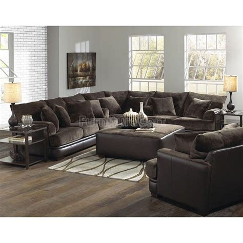 barkley sectional living room set chocolate in 2019