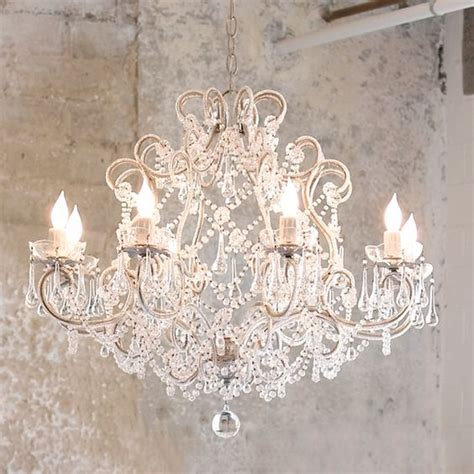 classic shabby chic chandelier you can do it yourself by