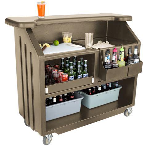 Portable Bar cambro bar540194 cambar granite sand 54 quot portable bar with
