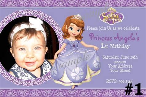 princess sofia birthday invitations ideas bagvania