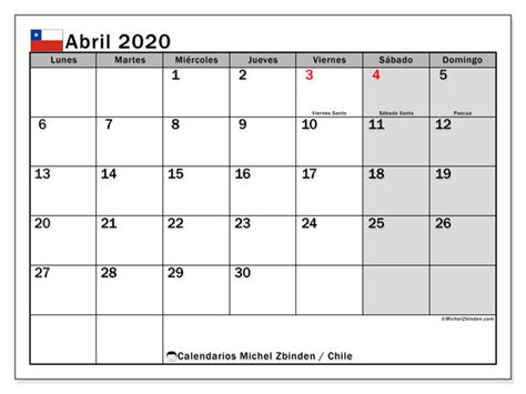 calendario abril chile michel zbinden es