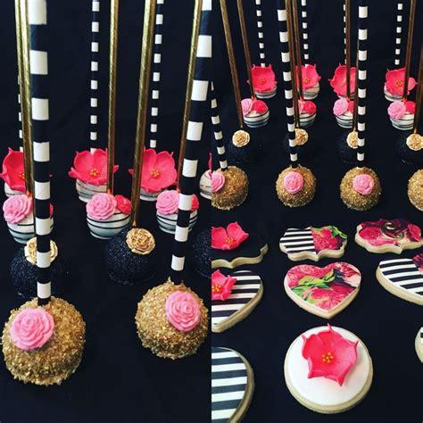 personalized kate spade inspired sugar cookies  cake
