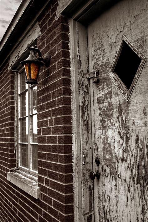 images black  white wood street night house