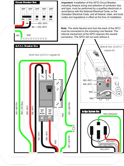 50 Gfci Breaker Wiring Diagram by 50 Square D Gfci Breaker Wiring Diagram