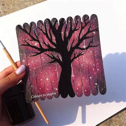 tree silhouette  popsicle sticks