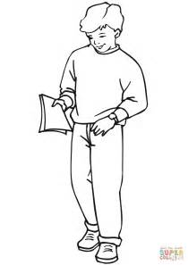 School Boy coloring page | Free Printable Coloring Pages