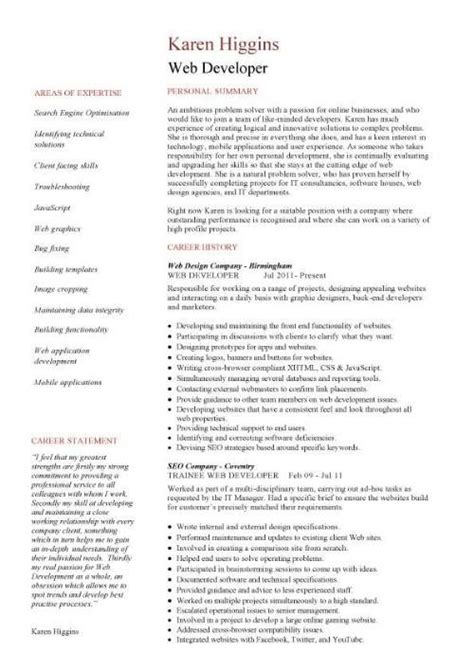 Web Developer Cv Sle by Learn How To Write A Web Designer Cover Letter By Using