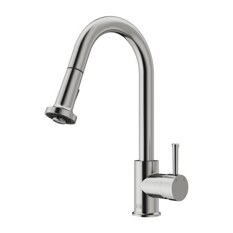 stainless steel faucets kitchen vigo vg02002st stainless steel pull out spray kitchen faucet atg stores