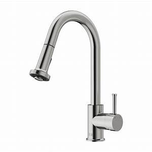 Vigo vg02002st stainless steel pull out spray kitchen for Stainless steel kitchen faucets