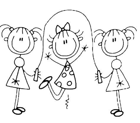 disegno  gioco della corda da colorare  bambini