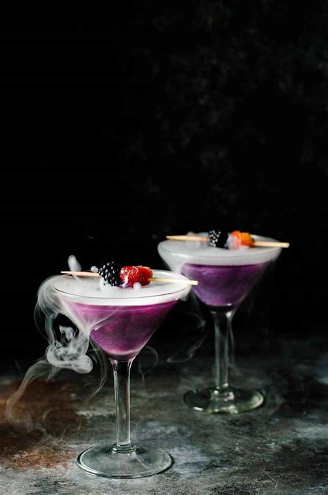 spooky halloween themed cocktails