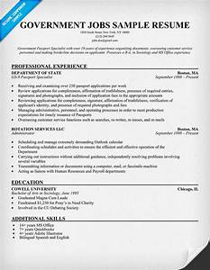 example resume With government job resume template