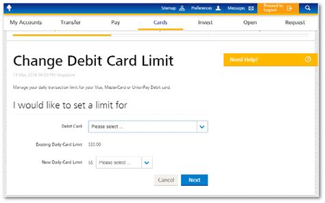 I never received my pin, how do i use my card at physical retailers? Change Debit Card Spending Limit   POSB Singapore