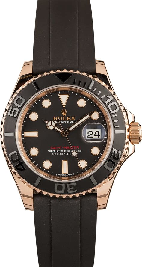 Buy Used Rolex Yachtmaster 116655BKSRS | Bob's Watches ...