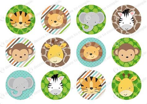 kit imprimible animales de la selva jungla