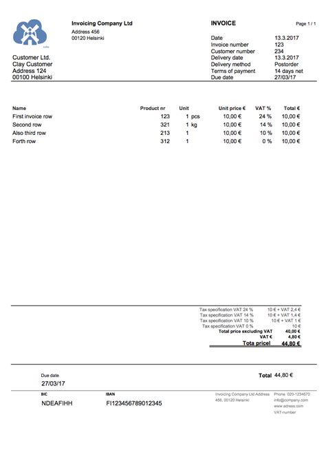 excel invoice template   invoicing software
