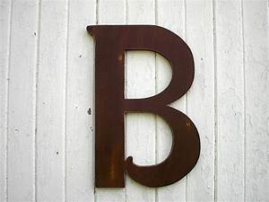 Items similar to wooden letters b large 24 inch brown for 24 inch wooden letters for walls